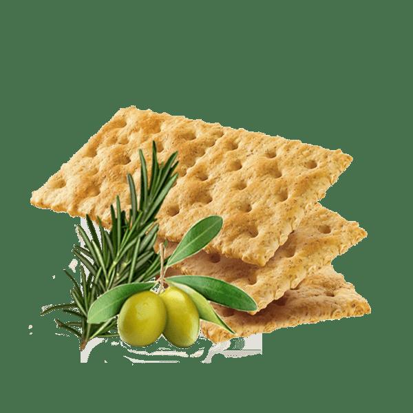 Sausainiai krekeriai su Extra Virgin alyvuogių aliejumi ir rozmarinu, 250g
