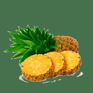 Ananasas, skraidintas lektuvu